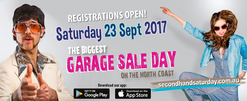 IT'S BACK! SECOND HAND SATURDAY REGISTRATIONS NOW OPEN